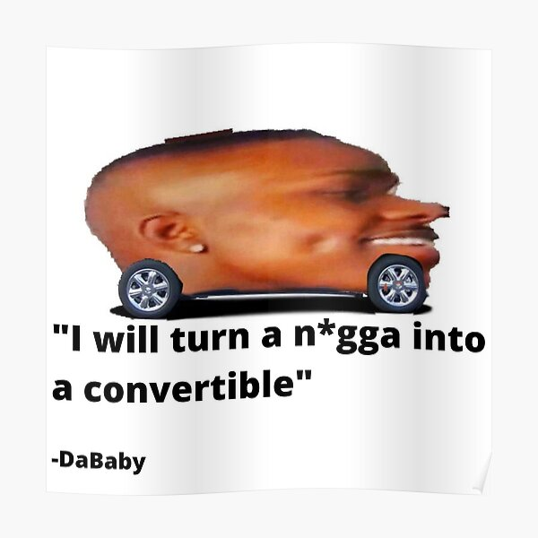DaBaby Car Poster RB0207 product Offical DaBaby Merch
