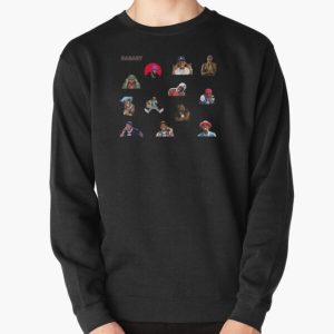 DaBaby Sticker Pack & Merch Pullover Sweatshirt RB0207 product Offical DaBaby Merch