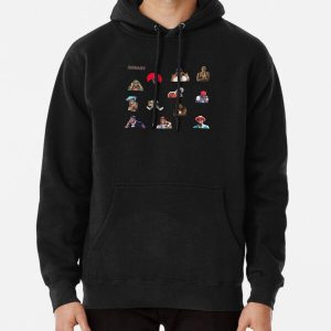 DaBaby Sticker Pack & Merch Pullover Hoodie RB0207 product Offical DaBaby Merch