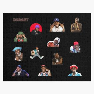 DaBaby Sticker Pack & Merch Jigsaw Puzzle RB0207 product Offical DaBaby Merch